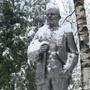 Гостиница Новые Горки: Ленин в снегу