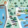 Рыболовная база Таболово: План базы отдыха